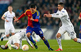 Manchester United target Fabian Schar in action