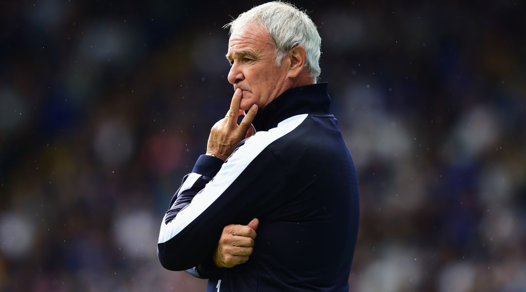 Claudio Ranieri taking charge of a Leicester friendly match